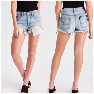 AE Vintage Hi-Rise Festival Distressed Shorts